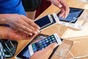 при покупке мобильного